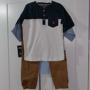 U.S Polo ASSN. Boy 3 piece Set